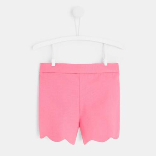 Toddler girl scalloped shorts