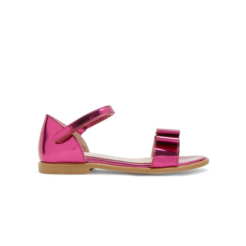 Girl mirrored patent leather sandals