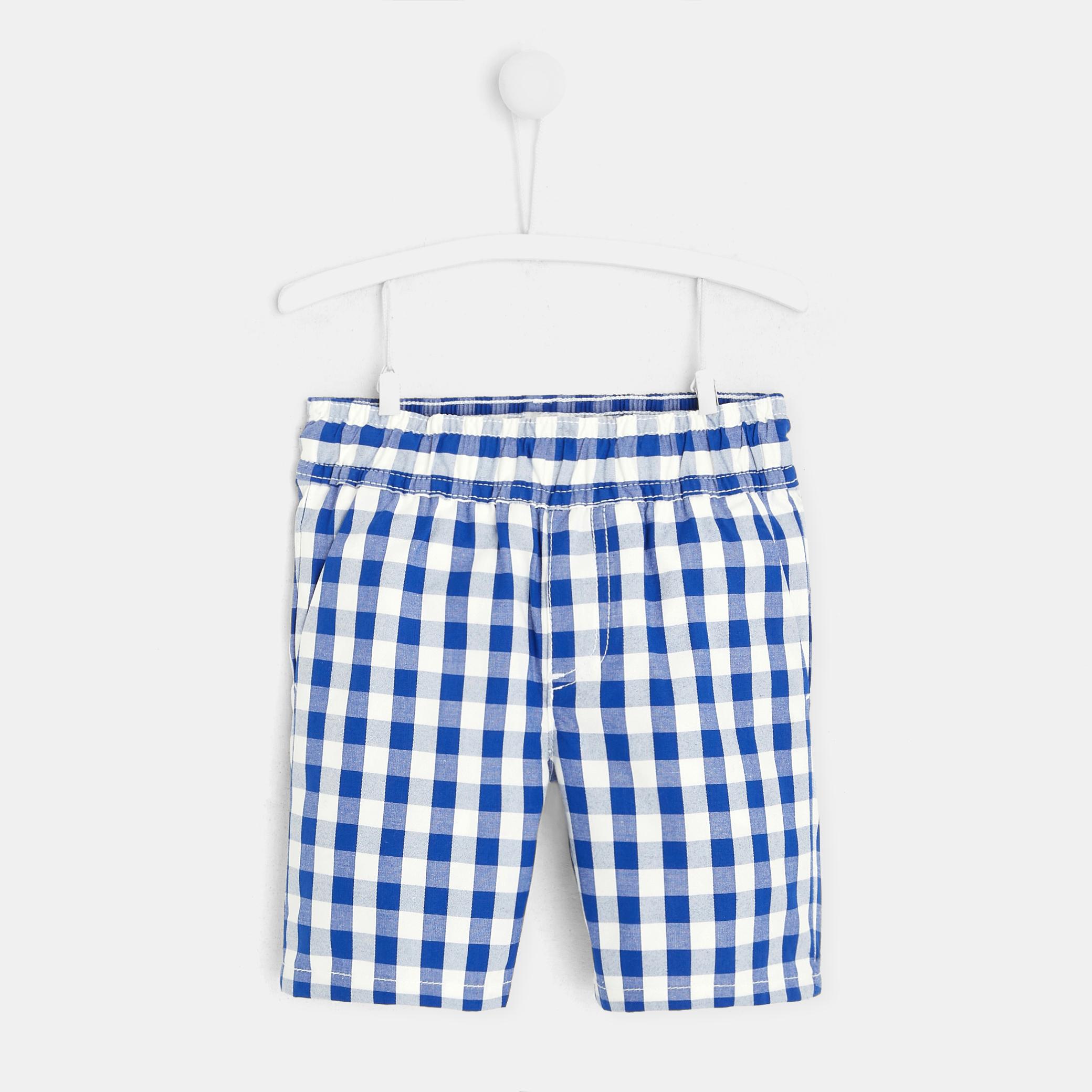 Toddler boy checked shorts