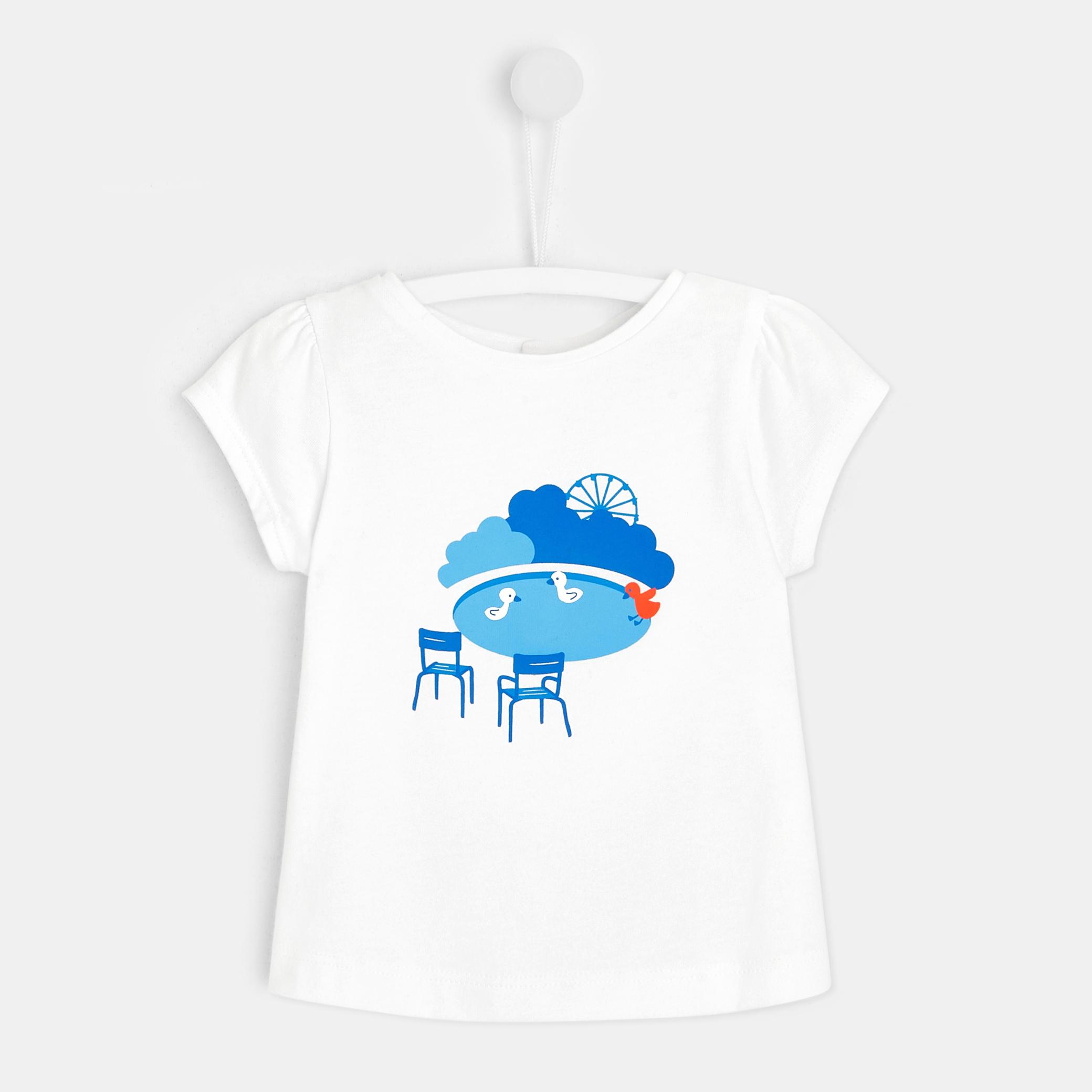 Toddler girl Parisian print T-shirt