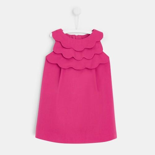 Toddler girl scalloped dress